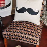 Mustache Pillow by MoekShop on Etsy