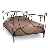 Queen-size Iron Bed Frame (India) | Overstock.com