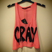 COSMIC RAY clothing — 'CRAY' Pink Crop Top
