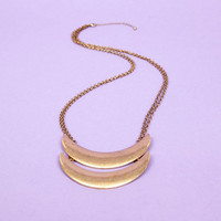Double Crescent Necklace $11