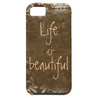 Vintage Life is Beautiful iphone 5 Case from Zazzle.com