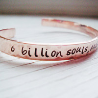 One Tree Hill inspired copper cuff 6 billion souls