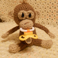 Monkey Pacifier Holder