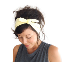 Tie Up Headscarf Lemon Yellow