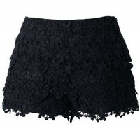 Beloved Crochet Shorts in Black - New Arrivals - Retro, Indie and Unique Fashion