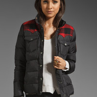 Penfield Rockford Plaid Yoke Down Jacket in Black from REVOLVEclothing.com