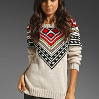 Mara Hoffman Intarsia Pullover in Multi from REVOLVEclothing.com