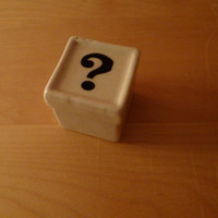 Ceramic Question Mark Surprise Box