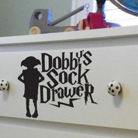Dobby&#x27;s Sock Drawer Dresser Decal