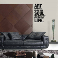 Quote: Art Washes the Soul Wall Sticker Decal - 20""