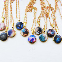 Mini Galaxy Locket - Black Cloud
