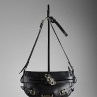 Burberry - SMALL BRIDLE SMOOTH LEATHER CROSSBODY BAG