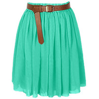 Women Lady Chiffon Pleated Retro High Waist Double Layer Mini Skirts | 25 Colors