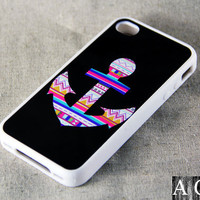 Anchor Symbol iPhone 4 iPhone 4S Case, Rubber Material Case