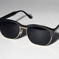 Black And Gold Clubmaster Sunglasses A44