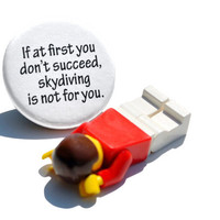 Skydiving Fail Pin / Button