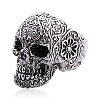 Punk Style Silver Skull Rings  by Julyjoy