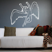 "Led Zeppelin Swan Song Car Wall Decal Sticker 22""h X 25""w"