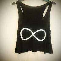COSMIC RAY clothing — 'INFINITY' Black Crop Top