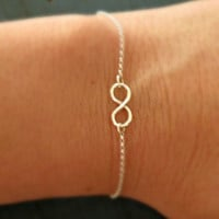 Sterling Silver Infinity Bracelet Tiny Infinity Simple Minimalist Jewelry Designer Inspired bridesmaid gifts