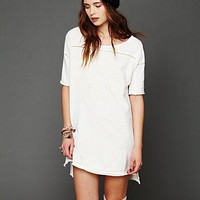 Free People Cutwork French Terry Tee