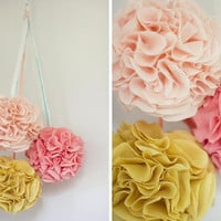 DIY Fabric Poms | DIY Wedding Blog | Once Wed