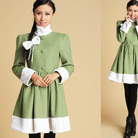 Cute Bow wool coat  (375)