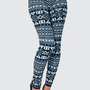 Black and White Aztec Print Wool Leggings