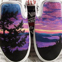 $120.00 STEP Custom Hand Painted Shoes by STEPbyAlysha on Etsy