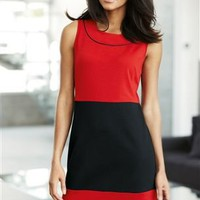 Buy Red Colour Block Ponte Dress online today at Next Direct United States of America