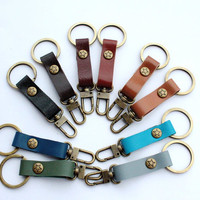 Leather Keychain / Key fob ( For 2 items)