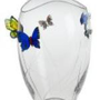 Godinger Crystal Butterfly Vase