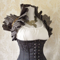 Victorian Stripe Tie On Shrug by Innerversion on Etsy