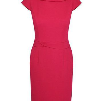 Minuet Petite Mid pink ponteroma dress Pink - House of Fraser