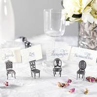 mini chair place card holders by patchwork harmony | notonthehighstreet.com