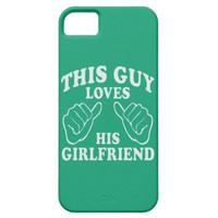 This Guy Loves His Girlfriend Jade Color Pattern iPhone 5 Cover
