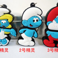 Papa Smurf Cartoon Unique USB Flash Drive