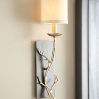 """Silvery Branch"" Sconce - Horchow"