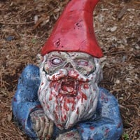 Zombie Garden Gnome Rising Dead BACK ORDER by dougfx on Etsy