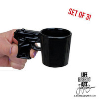 Gun Shot Glass, Set of 3 | LIFE BREEDS ART