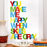 Typography Print art poster in letterpress style You by handz