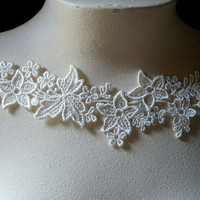 Venice Lace Applique in Cream for Jewelry Supply by MaryNotMartha