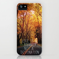 Life is a journey not a destination iPhone Case by Sylvia Cook Photography | Society6