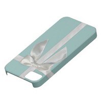 Aqua Blue Ribbon Iphone 5 with custom options iPhone 5 Covers from Zazzle.com