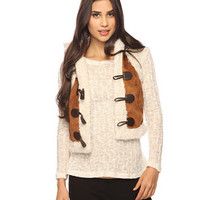 Shearling Toggle Vest