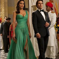 Paula Patton Stunning Green Long Maxi Green Prom Dress from Mission: Impossible - Ghost Protocol