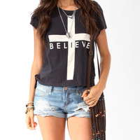 Oversized Believe Tee | FOREVER21 - 2025101367