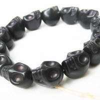 black Turquoise skull bracelet-------- Day of the death