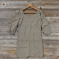 Crafted Chevrons Dress, Sweet Women's Bohemian Clothing