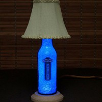 Bud Platinum Beer Bottle Lamp/Bar Light- W/ Shade VIDEO DEMO /11 year